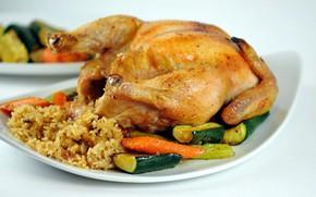 Picture chicken, fried, garnish