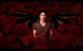 Picture wings, vampire, bat, the series, the vampire diaries, halloween, Halloween, Damon Salvatore