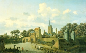 Picture the city, picture, Jan van der Heyden, St. Severin in Cologne in the Urban Landscape