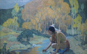 Picture stream, Indian, 1927, Eanger Irving Couse, Autumn Moon