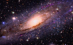 Picture space, stars, light, darkness, the universe, space