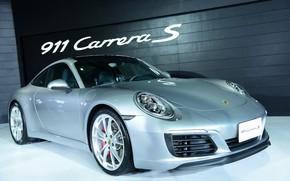 Picture 911, Porsche, silver, exhibition, Carrera S