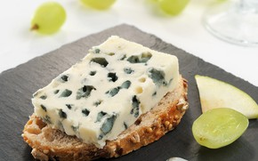 Picture France, cheese, bread, grapes, sandwich, France, Roquefort, Roquefort
