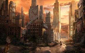 Picture the city, people, dog, devastation, I am Legend by Richard Metheson