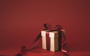 Wallpaper gift, tape, Holiday, bow