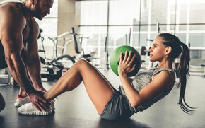 Picture ball, fitness, abs, wokout