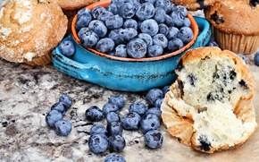 Picture berries, blueberries, fresh, cakes, cupcakes, blueberry, berries, muffins, muffin