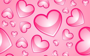Wallpaper background, pink, hearts