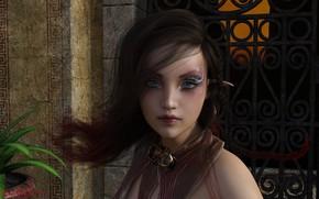 Wallpaper look, girl, 3D graphics