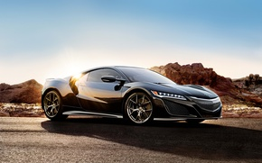 Wallpaper coupe, Acura, supercar, the sun, Acura, Coupe, NSX