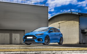 Picture Ford, Focus, Blue, Hangar