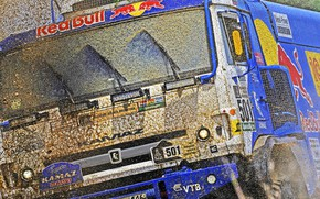 Wallpaper Grass, Sport, Speed, Race, Master, Dirt, Squirt, Lights, Russia, Cabin, Kamaz, Rally, Dakar, Dakar, Rally, ...