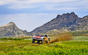 Picture Nature, Mountains, Rocks, Sport, Speed, Race, Dirt, Peugeot, Lights, Red Bull, Rally, Rally, Sport, The …