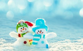 Picture winter, snow, snowman, happy, smile, winter, snow, snowman