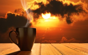 Wallpaper coffee, coffee cup, dawn, Cup, good morning, hot, morning