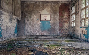 Wallpaper basketball, hall, sport