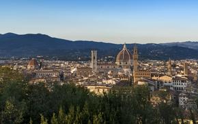Picture Italy, Florence, architecture, cityscape, Florence Cathedral, religion, Renaissance, sacred place, roman catholic, Italian Gothic, Arnolfo …
