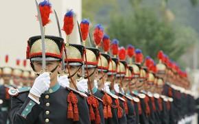Picture sword, soldiers, military, duty, ken, blade, Brazil, uniform, honor, graduation, High School in Rio de …