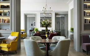 Picture interior, library, living room, Townhouse in Kensington