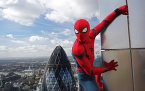 Picture city, cinema, spider, sky, boy, Marvel, movie, Spider-man, hero, film, Spiderman, uniform, yuusha, seifuku, Justice …