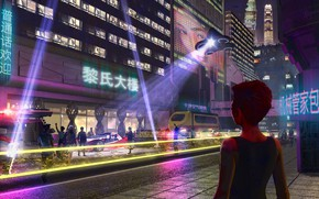 Picture the scene, Hong Kong 2047, Sci-Fi Movie