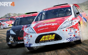 Picture car, game, race, speed, pilot, pearls, Dirt 4