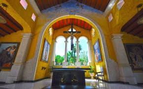 Picture Mexico, the hotel, chapel, the crucifixion, Grand Palladium Riviera Resort