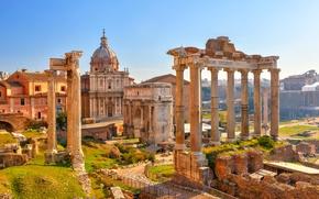 Wallpaper my planet, the sky, view, travel, Rome, wallpaper., blur, bokeh, Roman forum, Rome, Italy, Italy, ...