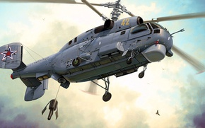 Picture Helix, Ka-27, The Kamov design Bureau, Aviation of the Russian Navy, Soviet naval multi-purpose helicopter