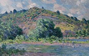 Picture landscape, nature, picture, Claude Monet, Claude Monet, The banks of the Seine at port-Vila