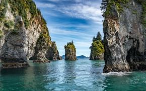 Picture sea, the sky, rocks
