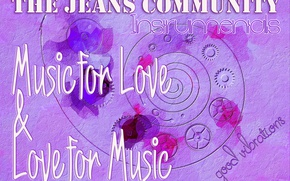 Picture music, love, the jeans community, Kide Fotoart