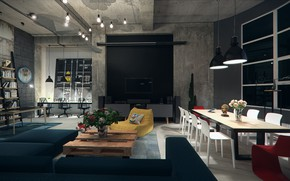 Picture design, interior, chair, the room, Loft Competition