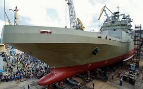 Picture launching, Peter Morgunov, Builder, landing ship