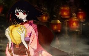 Picture girl, night, anime, art, the fruit, xxxHolic