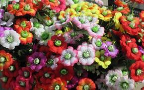 Picture bouquet, artificial flowers, spring 2018, Meduzanol ©
