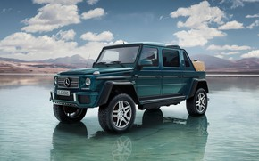 Wallpaper Clouds, Water, The sky, Beauty, Mercedes-Maybach G 650 Landaulet