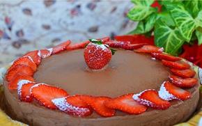 Picture Strawberry, cake, Strawberry, Pie