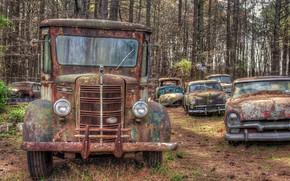 Wallpaper scrap, rust, machine