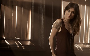 Picture girl, tatoo, pose, witch, The Originals, tv series, Daniella Pineda