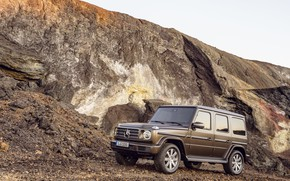 Picture Mercedes-Benz, brown, mining, 2018, G-Class, quarry