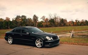 Picture Mercedes, AMG, Black, W211, E55