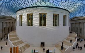 Wallpaper Great Court, British Museum, reading room, London, England