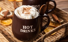 Picture coffee, chocolate, cream, Cup, hot, cinnamon, cup, drink, coffee, cream, latte, chocalate, latte