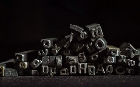 Picture letters, background, font