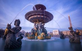 Picture France, Paris, fountain, Concorde, fountain of the seas