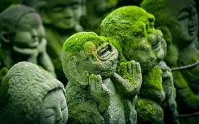 Wallpaper Nature, Japan, Statues, Sculpture, Kyoto, Religion, Ancient