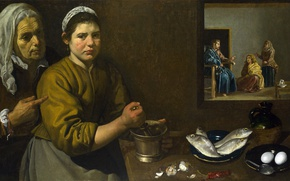Picture picture, mythology, Christ in the House of Martha and Mary, Diego Velazquez