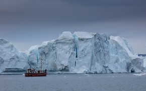 Picture cold, ice, winter, sea, the sky, water, clouds, snow, nature, people, overcast, ship, ice, glacier, …