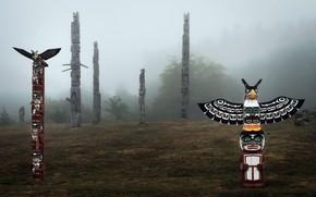 Picture Cormorant Island, Alert Bay, Totem poles